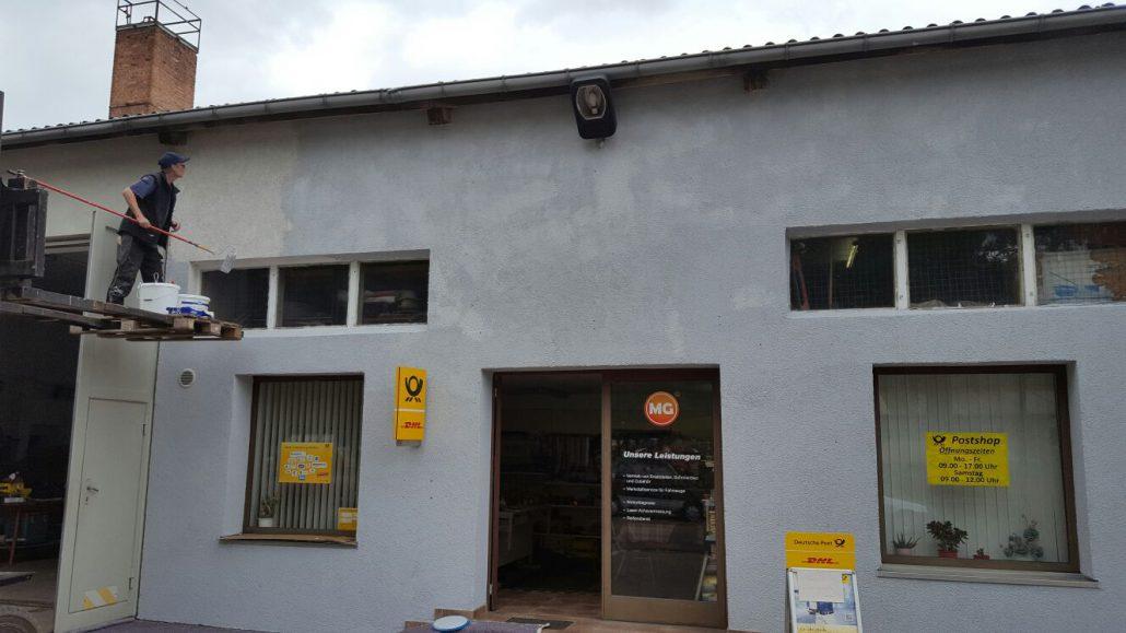 Fassade wird neu gestrichen